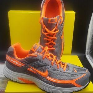 Nike Initiator grey neon orange & white sneakers